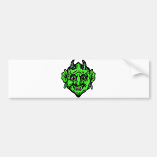 Little Devil Cartoon Head Face Horns Graphic Ympe Bumper Sticker