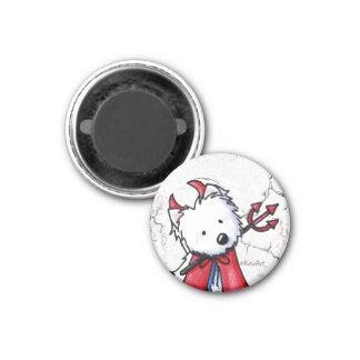 Little Devil Westie 3 Cm Round Magnet