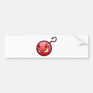 Little Evil Round Devil with an Arrow Tail Bumper Sticker
