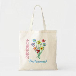 Little Flowers Bride's Wedding Tote Bag