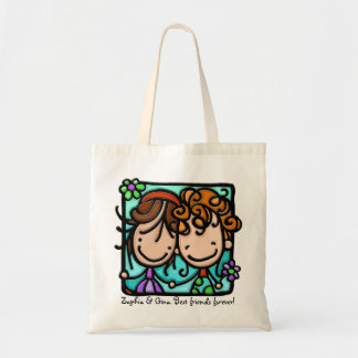 Little Girlies has a Best Friend Forever! Budget Tote Bag