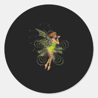 Little Green Pixie Round Sticker