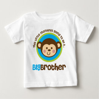 Little Monkey Going To Be A Big Brother Tee Shirts