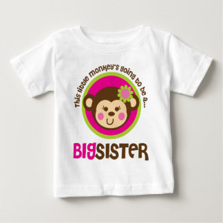Little Monkey Going To Be A Big Sister T Shirt