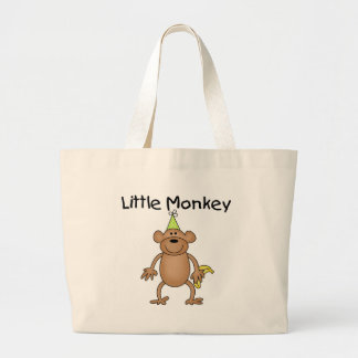 Little Monkey with Party Hat Tshirts and Gifts Jumbo Tote Bag