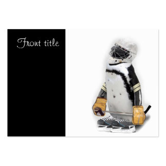 Little  Penguin Wearing Hockey Gear Pack Of Chubby Business Cards