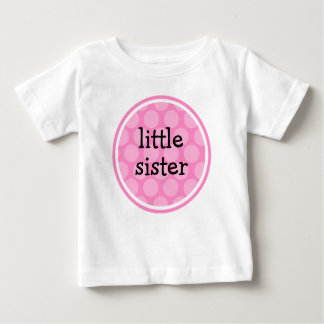 Little Sister Pink Polka Dot Circle Infant T-Shirt
