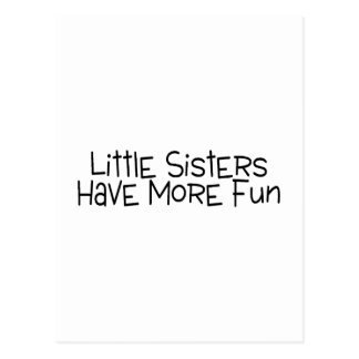 Little Sisters Have More Fun Postcard