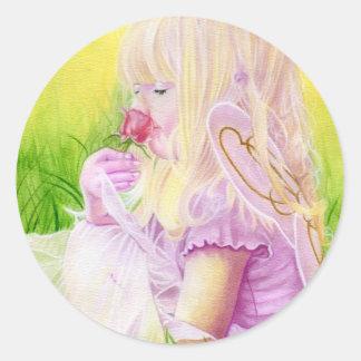 Little Spring Fairy Rose Sticker