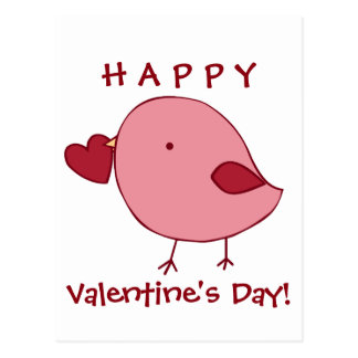 Little Valentine chick postcard
