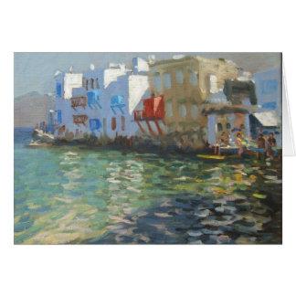 Little Venice Mykonos Greeting Card