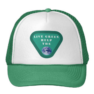 Live Green Help The Planet Hat