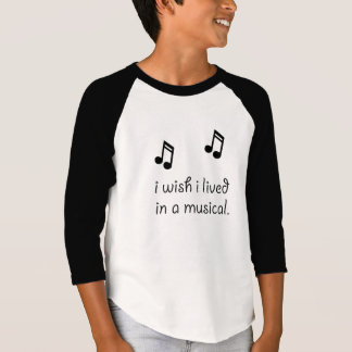 Live In Musical Tee Shirts