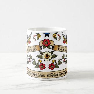 Live Love Biomedical Engineering Basic White Mug