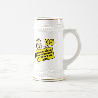 Living Life 35th Birthday Gifts Beer Steins