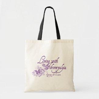 Living with Fibromyalgia Budget Tote Bag