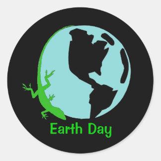 Lizard Earth Day Stickers