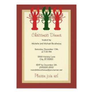 Lobster Christmas Dinner 13 Cm X 18 Cm Invitation Card