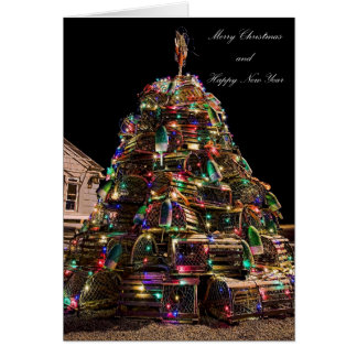 Lobster Trap Christmas Card