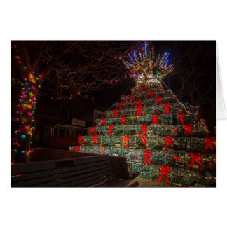 Lobster Trap Christmas Tree 2 Greeting Card