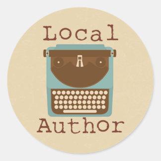 Local Author Typewriter Round Sticker
