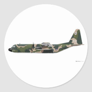Lockheed C-130 Hercules Vietnam Round Sticker