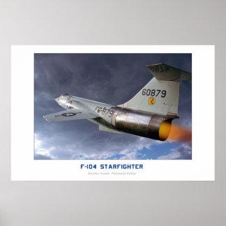 Lockheed F-104 Starfighter Poster
