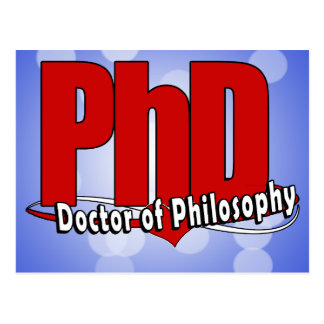 LOGO BIG RED PhD DOCTOR OF PHILOSOPHY Postcard