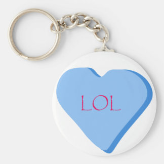 LOL Candy Heart Basic Round Button Key Ring