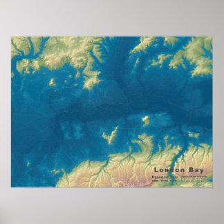 """London Bay, 66m Sea Rise, 24""""x18"""" Poster"""