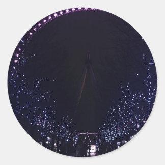 London eye round sticker