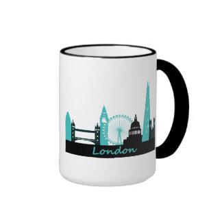 London Skyline Ringer Mug