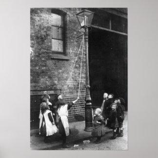 London Slums, c.1900 Poster