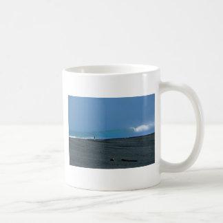 Lone fisherman and waves New Zealand Basic White Mug