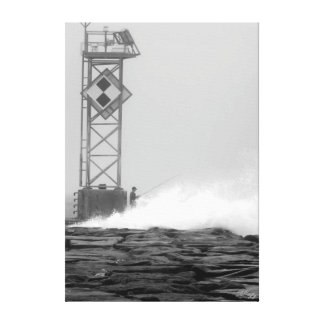 Lone Fisherman Gallery Wrap Canvas