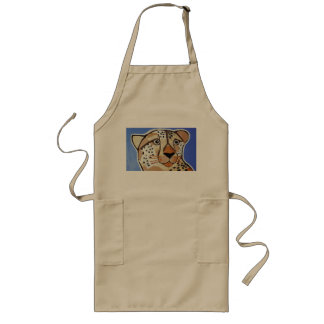 Long Apron with Cute Cheetah