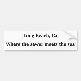Long Beach, Ca - Where the sewer meets the sea Bumper Sticker