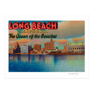 Long Beach, California - The Queen of Beaches Postcard