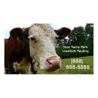 Long Haul  Cattle Trucking Business Card