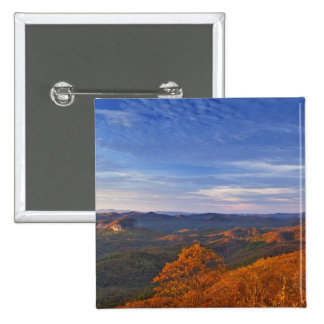 Looking Glass Rock at sunrise in the Pisgah 15 Cm Square Badge