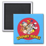 Looney Tunes Character Logo Square Magnet