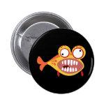 Loony Fish 6 Cm Round Badge