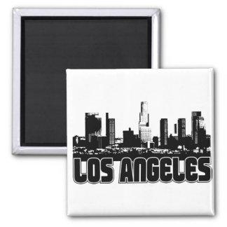 Los Angeles Skyline Square Magnet