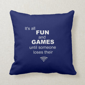 Losing WiFi Internet Pillow - Blue Cushions