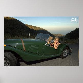 Lotti B Green Car Poster