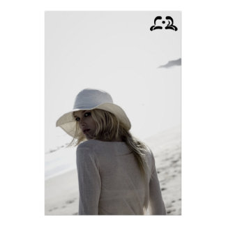 Lotti B White Hat Poster