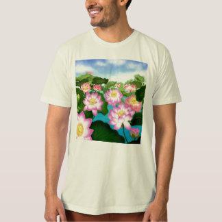 Lotus Flower Garden Mens Organic T-shirt