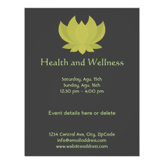 Lotus Health and Wellness Flyer