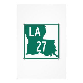 Louisiana Highway 27 Personalised Stationery