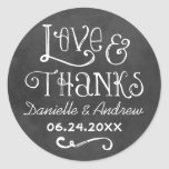 Love and Thanks Favour Sticker | Chalkboard Charm